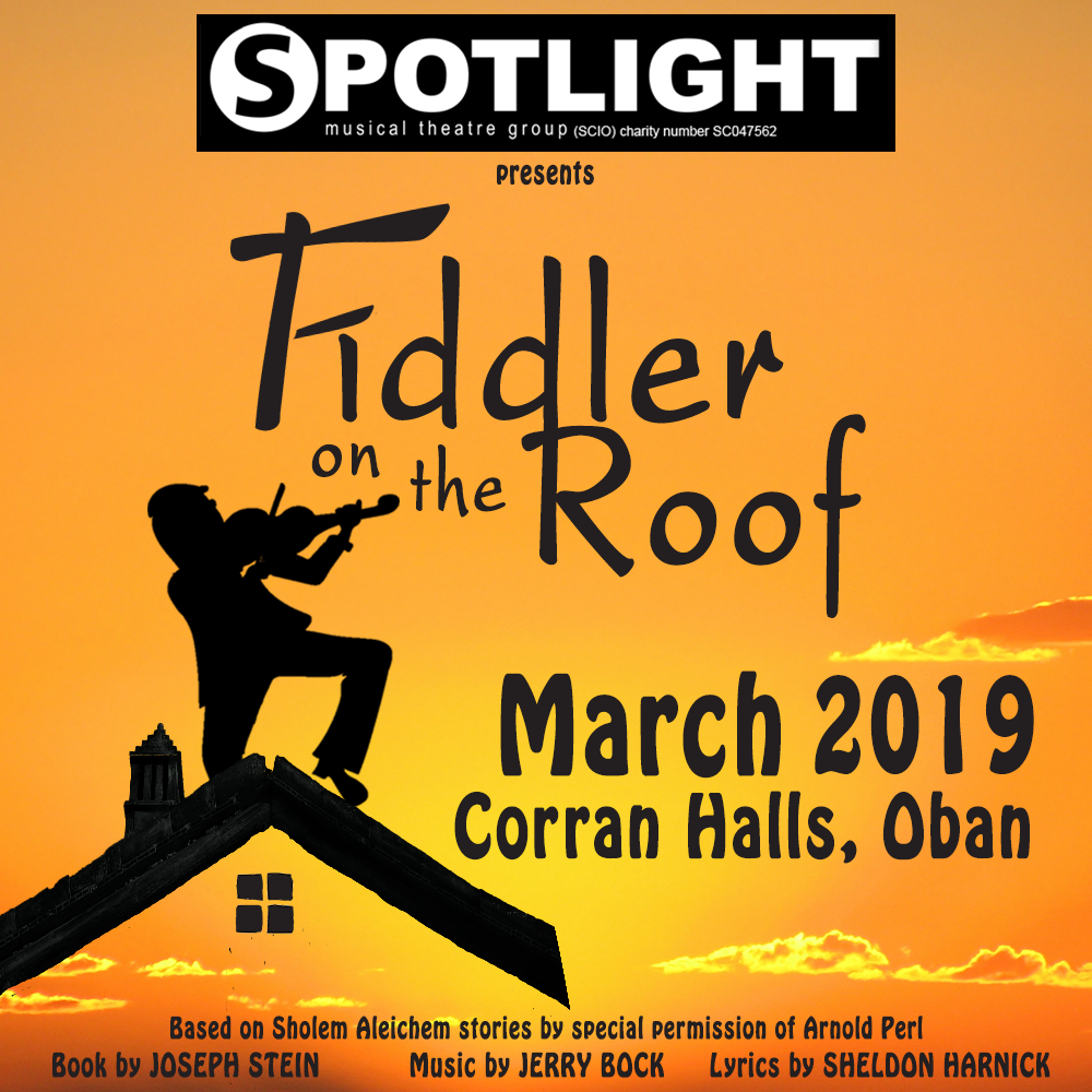 Auditions for our next Show Fiddler on the Roof for performance March 2019