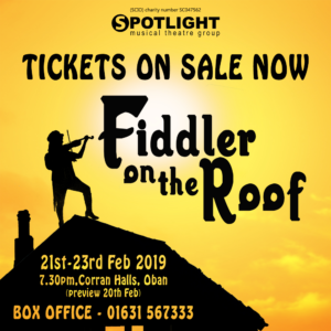 Fiddler Tickets on sale now
